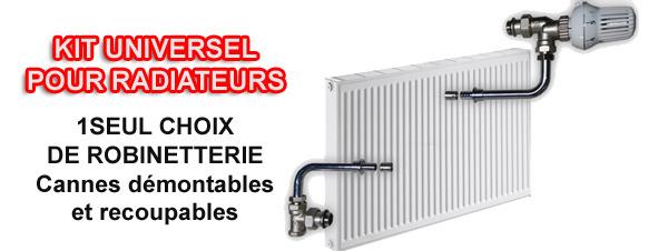 Kit hydrocabl pour radiateur eau chaude for Raccorder un radiateur eau chaude