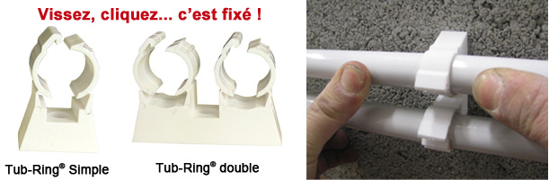 fixations tube multicouche FIX RING