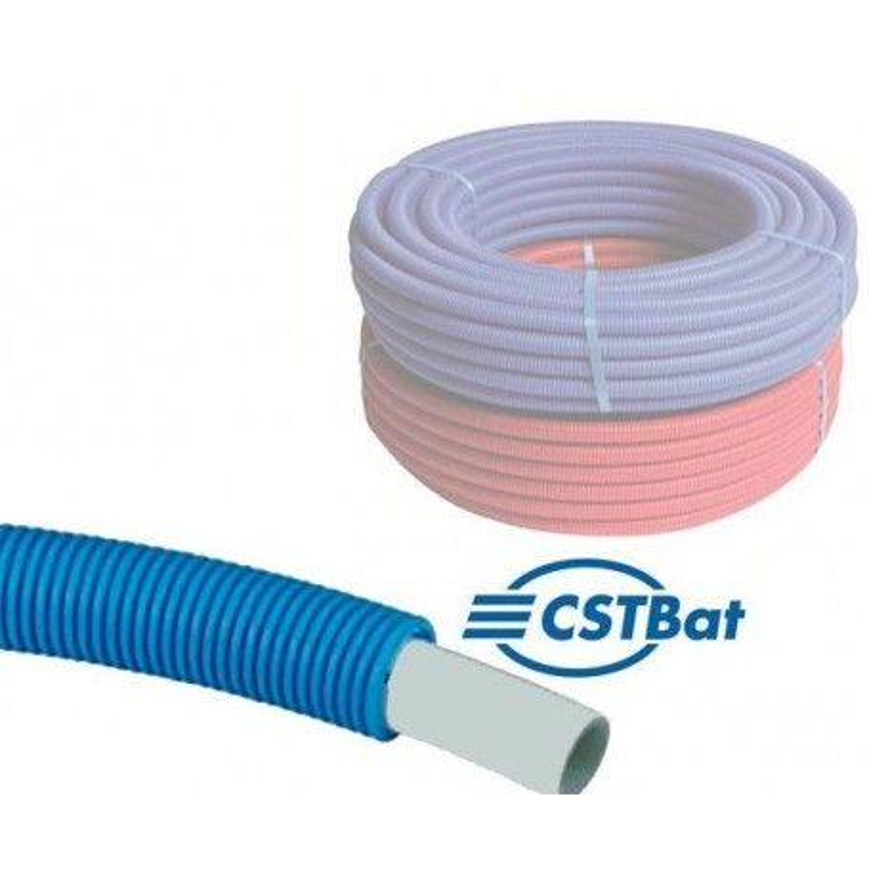 50m Tube Multicouche gainé Ø16 Bleu