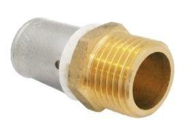 Coude multicouche applique à sertir avec plaque de douche pour
