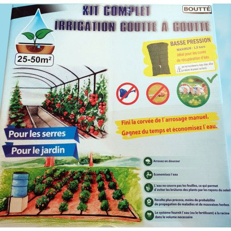 Kit micro irrigation 25-50m²