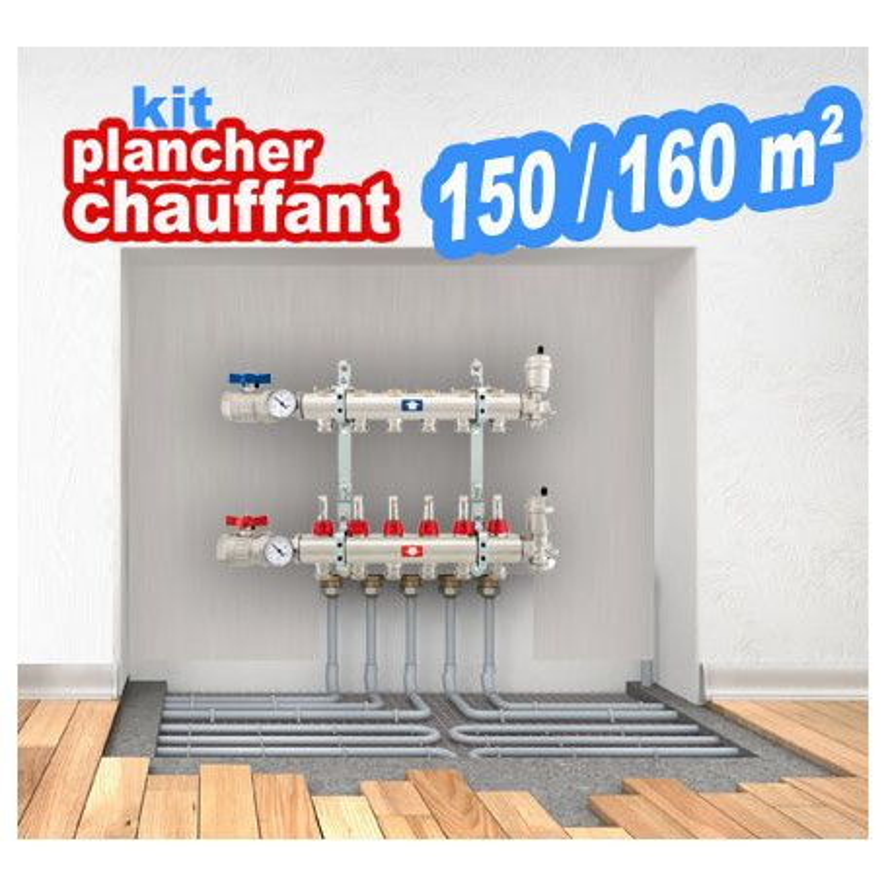 Kit plancher chauffant pour 150/160m² Plusieurs combinaisons Prix à partir de