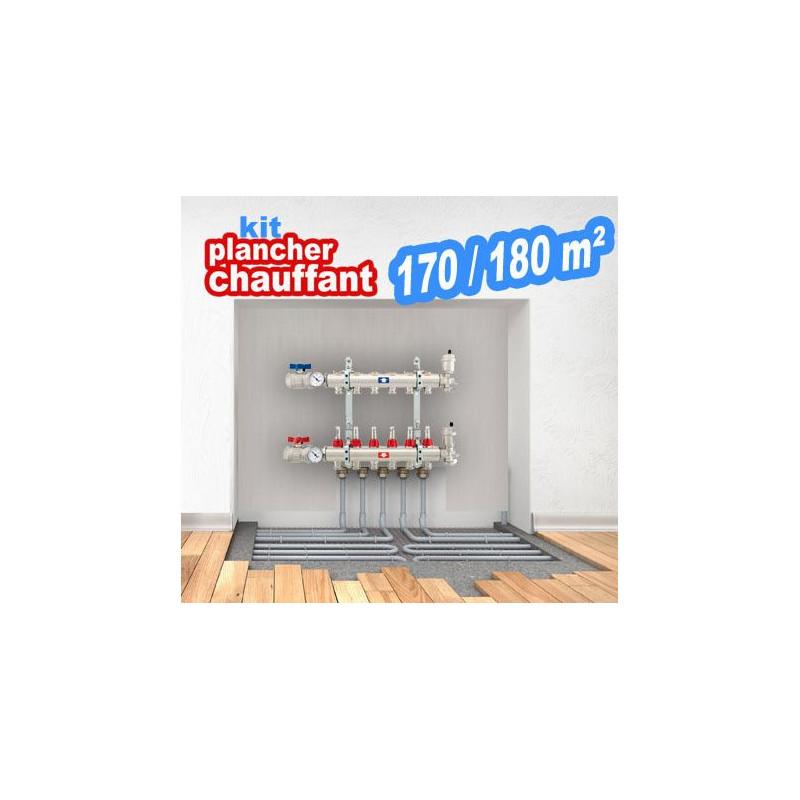 Kit plancher chauffant pour 170/180m² Plusieurs combinaisons Prix à partir de
