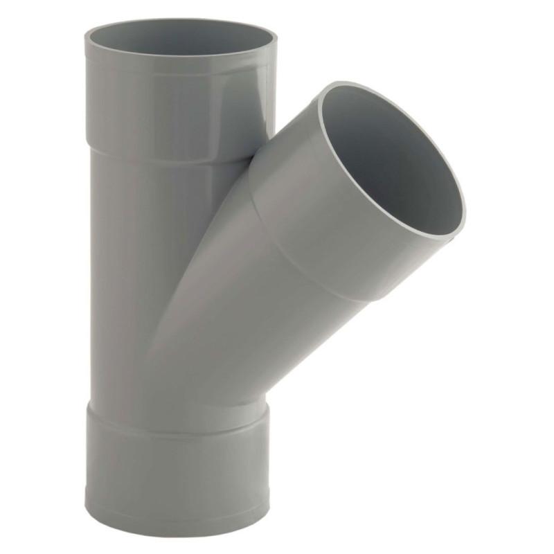RACCORD PVC EVACUATION CULOTTE 45° FFF