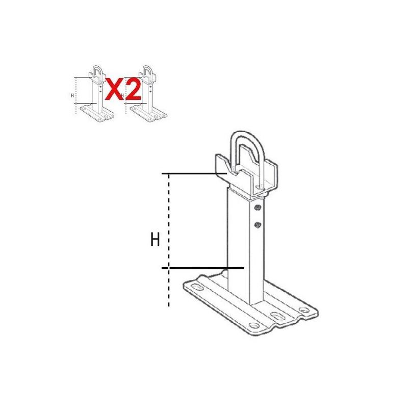 PIEDS SUPPORT radiateurs aluminium