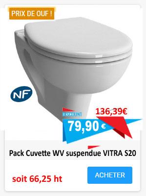 Pack cuvette suspendue Vitra S20