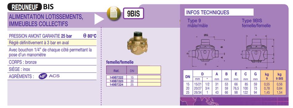 reducteur de pression 9bis